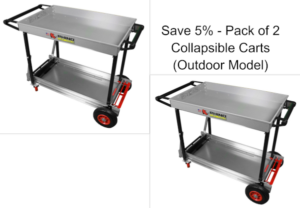 Folding Utility Carts Outdoor Pack of 2